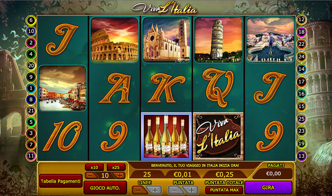 la slot machine viva l'Italia